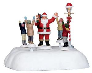 04241 - Hooray for Santa, B/O (4.5v) -  Lemax Christmas Village Table Pieces