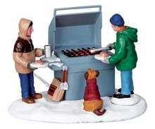 04234 - Grillin' & Chillin', B/O (4.5v) -  Lemax Christmas Village Table Pieces