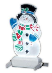 04242 - Yard-Light Snowman, B/O (4.5v) -  Lemax Christmas Village  Accessories