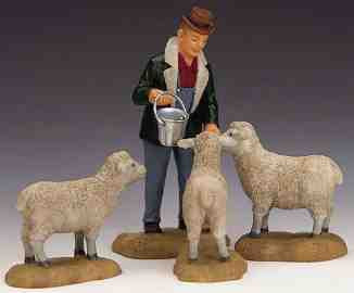 12499 -  The Good Shepherd, Set of 4 - Lemax Christmas Village Figurines