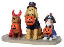 12887 - Trick or Dog Treats - Lemax Spooky Town Halloween Village Figurines
