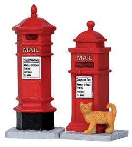 14362 - Victorian Mailboxes, Set of 2 - Lemax Christmas Village Misc. Accessories