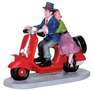 22021 - Scooter Ride  - Lemax Christmas Village Figurines