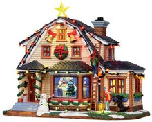 15247 - Decorating the House, with 4.5v Adaptor - Lemax Harvest Crossing Christmas Houses & Buildings