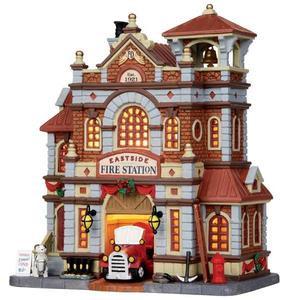Christmas Houses Village.15262 Eastside Fire Station Lemax Caddington Village Christmas Houses Buildings