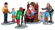 22032 - Photos with Santa, Set of 5  - Lemax Christmas Village Figurines