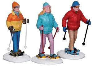 22033 - Snowshoe Walkers, Set of 3  - Lemax Christmas Village Figurines