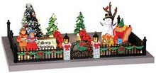 24512 - Decorated Victorian Front Yard, Battery-Operated (4.5v)  - Lemax Christmas Village Table Pieces