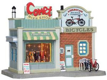 25405 - Comet Bike Shop  - Lemax Jukebox Junction Christmas Houses & Buildings