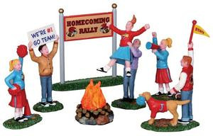 24491 - Homecoming Bonfire, Set of 7, Battery-Operated (4.5v)  - Lemax Christmas Village Misc. Accessories