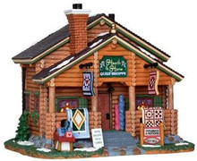 25364 - Hearth & Home Quilt Shoppe  - Lemax Vail Village Christmas Houses & Buildings