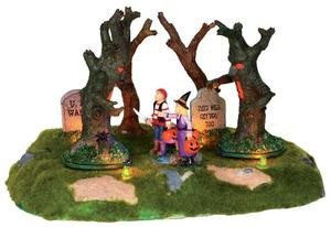 24462 - Are Those Trees Moving?  - Lemax Spooky Town Halloween Village Accessories