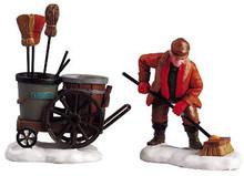 52093 -  Street Sweeper, Set of 2 - Lemax Christmas Village Figurines