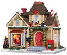 25418 - Santa's Storytime Cottage  - Lemax Caddington Village Christmas Houses & Buildings