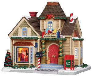 25418 - Santa's Storytime Cottage  - Lemax Caddington Village Christmas Houses & Buildings
