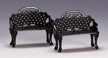 34897 -  Patio Bench, Set of 2 - Lemax Christmas Village Misc. Accessories
