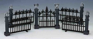 44139 -  Gargoyle Fence, Set of 5 - Lemax Spooky Town Halloween Village Accessories