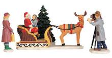 52161 -  Santa's Sleigh, Set of 4 - Lemax Christmas Village Figurines