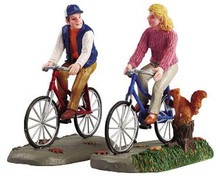 52131 -  Romantic Bike Ride, Set of 2 - Lemax Christmas Village Figurines
