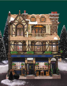 45099 -  Wesley Pub, Battery-Operated - Lemax Christmas Village Facades