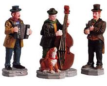 52035 -  Streetside Trio, Set of 3 - Lemax Christmas Village Figurines