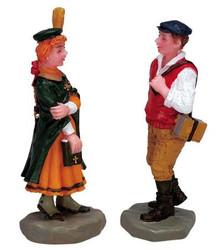 72421 -  School Kids, Set of 2 - Lemax Christmas Village Figurines