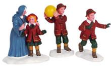 62286 -  Dodge Ball, Set of 3 - Lemax Christmas Village Figurines