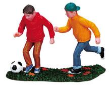 72408 -  Soccer Season - Lemax Christmas Village Figurines