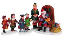 62276 -  Visiting Santa, Set of 3 - Lemax Christmas Village Figurines