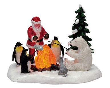 74633 -  Fireside Fun, Battery-Operated (4.5v) - Lemax Christmas Village Table Pieces