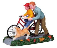 82517 -  Learning to Ride - Lemax Christmas Village Figurines