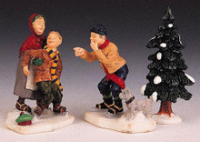 92289 -  Upsy Daisy! Set of 3 - Lemax Christmas Village Figurines