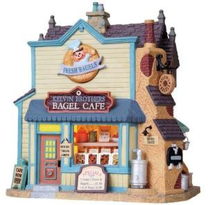 85704 -  Kelvin Brothers Bagel Cafe - Lemax Plymouth Corners Christmas Houses & Buildings