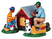 92655 -  Spike Gets a New Home, Set of 3 - Lemax Christmas Village Figurines
