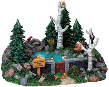 93746 -  Pine Valley Dam - Lemax Christmas Village Table Pieces