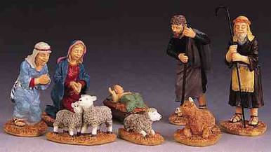 92351 -  Nativity Christmas Figurines, Set of 8 - Lemax Christmas Village Figurines