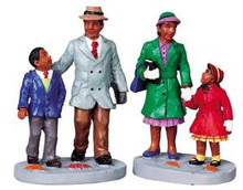 92648 -  Going to Church, Set of 2 - Lemax Christmas Village Figurines