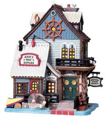 85698 -  Jesse's Boat Supplies & Restaurant - Lemax Plymouth Corners Christmas Houses & Buildings