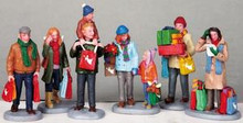 92683 - Holiday Shoppers, Set of 6 - Lemax Christmas Village Figurines