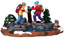 93738 -  Woodland Trekking - Lemax Christmas Village Table Pieces