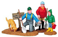 92640 -  Winter Clamming, Set of 3 - Lemax Christmas Village Figurines