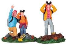 92641 -  Bird Watching Family, Set of 2 - Lemax Christmas Village Figurines