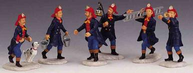 02446 -  Fireman, Set of 6 -  Lemax Christmas Figurines