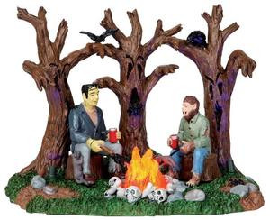 14331 - Creepy Campfire, Battery-Operated (4.5v) - Lemax Spooky Town Halloween Village Accessories