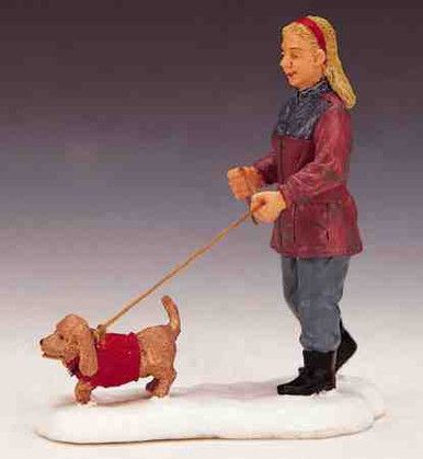 22568 -  Strolling with Pooch - Lemax Christmas Village Figurines