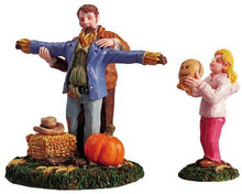 52027 -  Making a Scarecrow, Set of 2 - Lemax Christmas Village Figurines