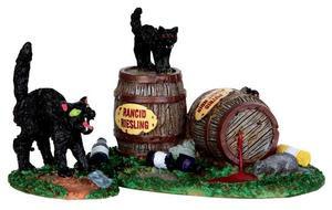 34611 - Wine Barrels, Set of 2  - Lemax Spooky Town Halloween Village Accessories