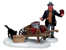 72399 -  Roasted Chestnut Vendor, Set of 2 - Lemax Christmas Village Figurines