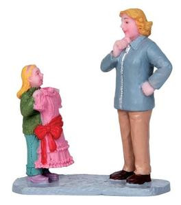12907 - Pretty Dress Mommy - Lemax Christmas Village Figurines