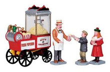 02832 - Popcorn Seller, Set of 4 -  Lemax Christmas Figurines